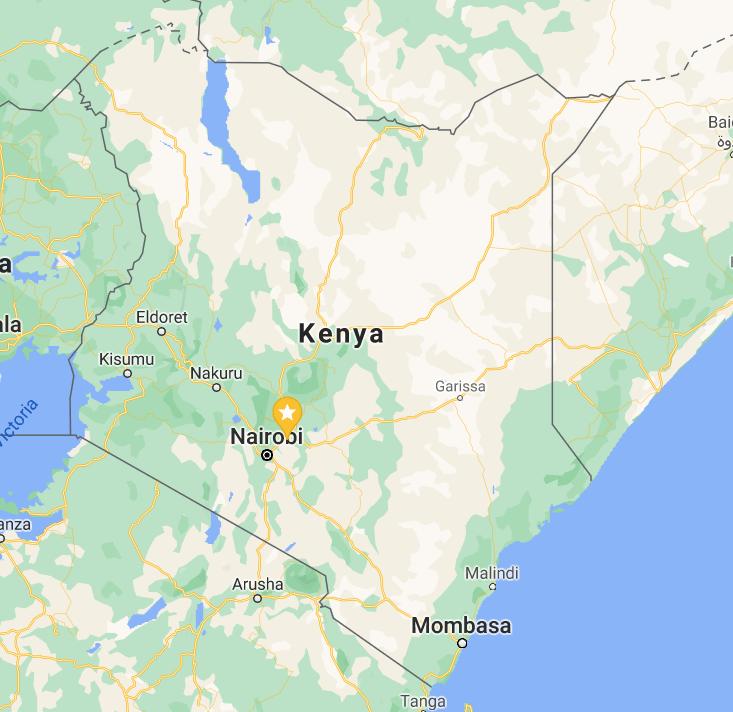 Map of Nairobi